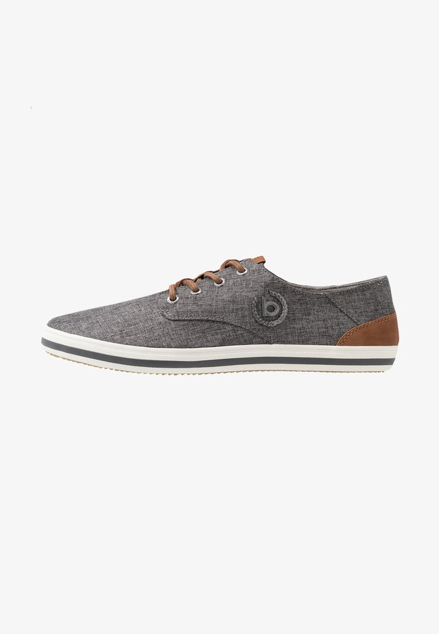 ALFA - Matalavartiset tennarit - dark grey/cognac