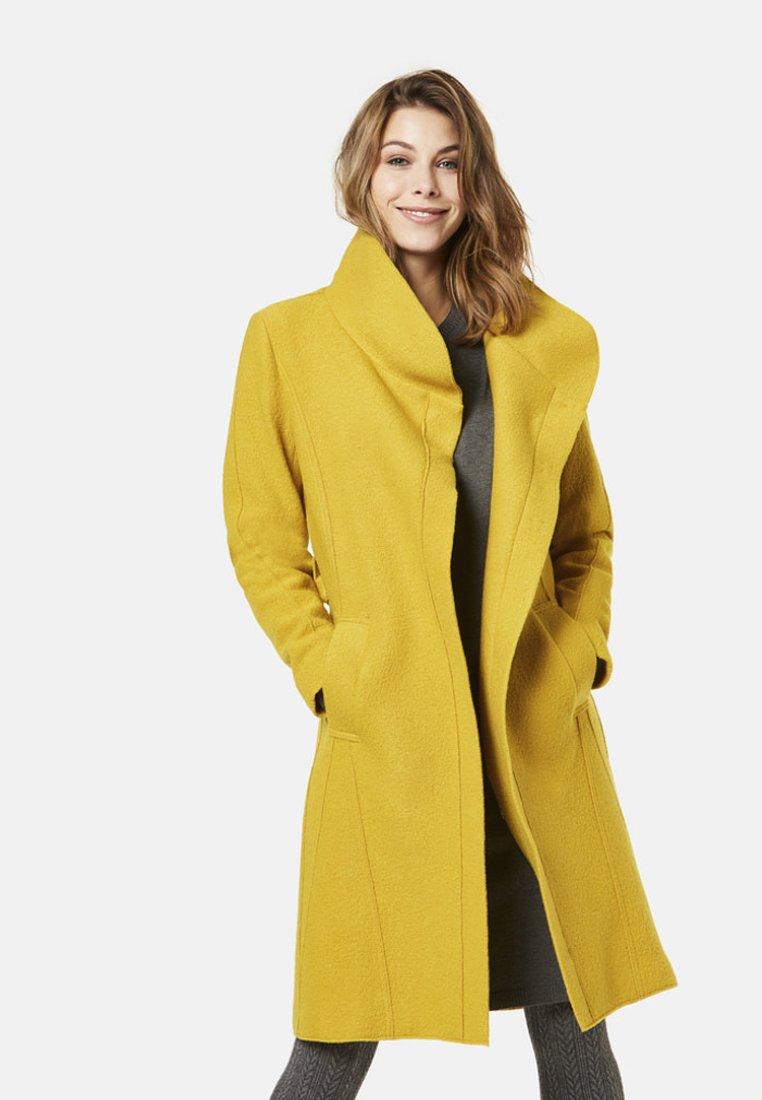 Bugatti - MODERN FIT - Wollmantel/klassischer Mantel - yellow