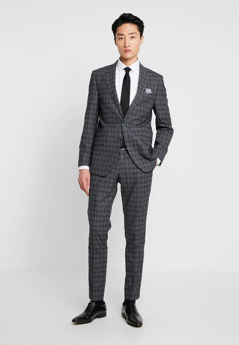 Bugatti - SUIT SLIM FIT - Traje - grey/check