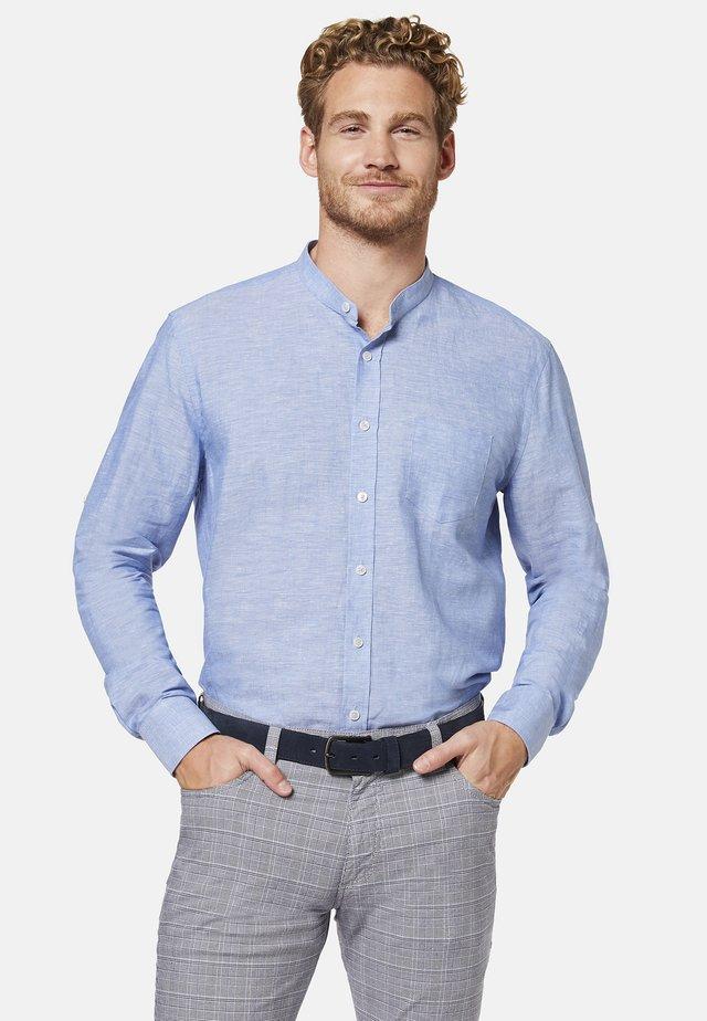 BUGATTI HEMD MIT EINEM MANDARINKRAGEN - Shirt - blue/grey