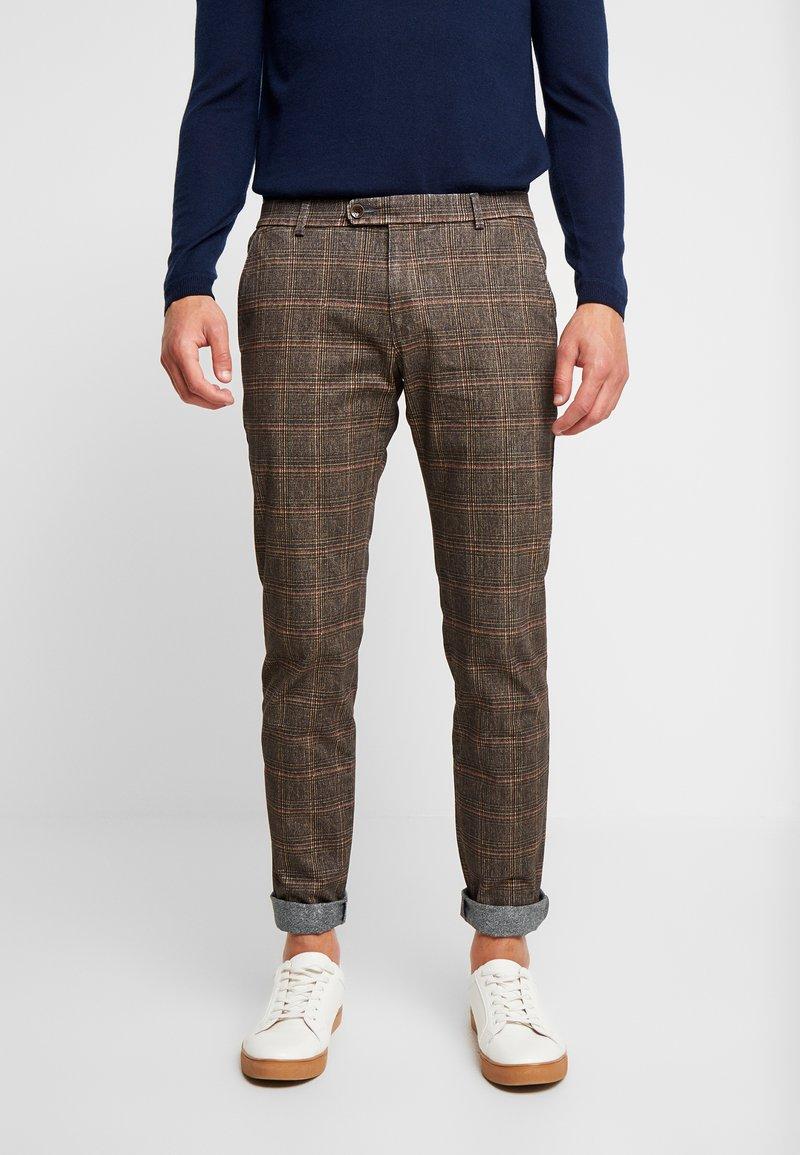 Bugatti - TROUSER  - Trousers - brown