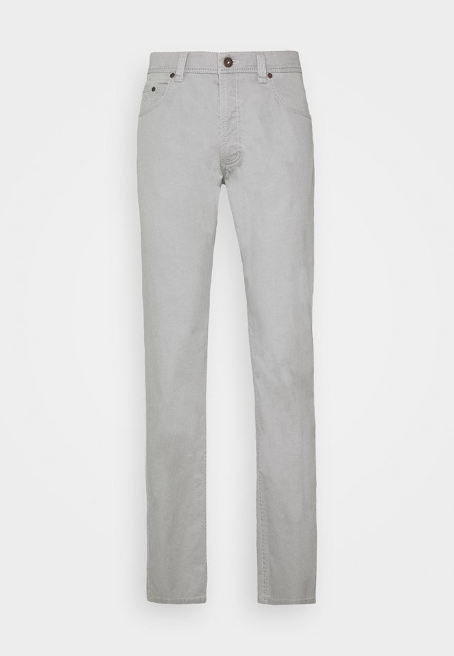 BROKEN TWILL TROUSER - Kangashousut - light grey