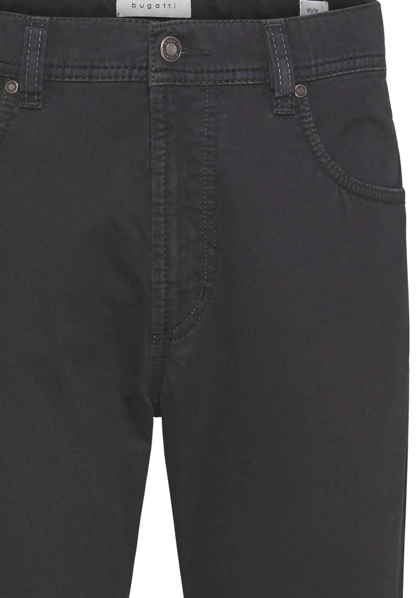 Bugatti FIVE-POCKET - Spodnie materiałowe - dark grey