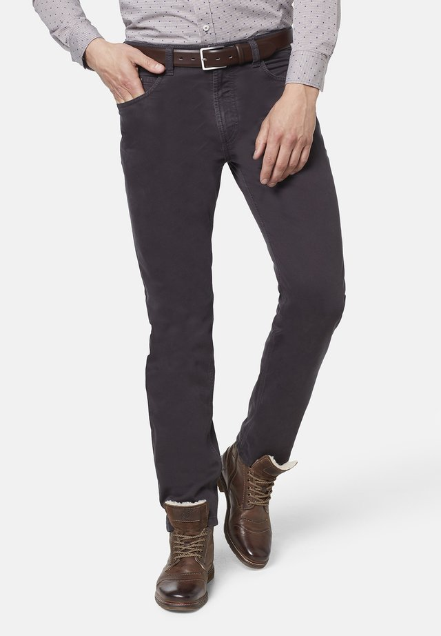 FIVE-POCKET - Kangashousut - dark grey