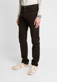 Bugatti - FIVE-POCKET - Trousers - dark brown - 0