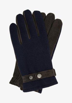 Gloves - navy/choco