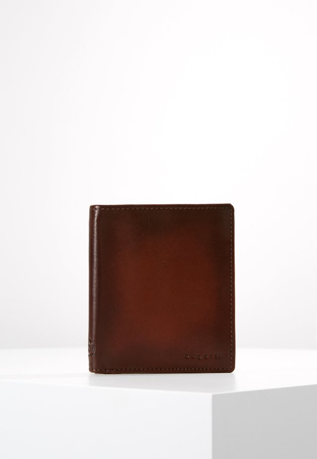 DOMUS RFID WALLET WITH FLAP - Lommebok - cognac
