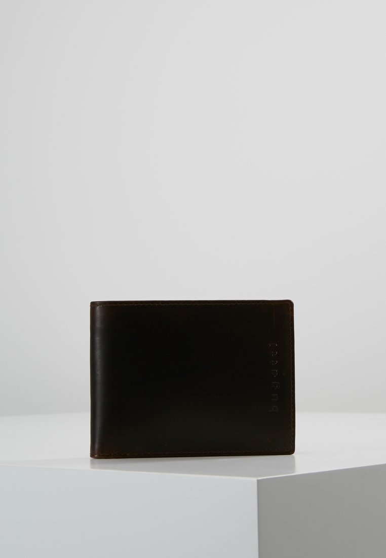 Bugatti - RFID COIN WALLET WITH FLAP - Portefeuille - brown