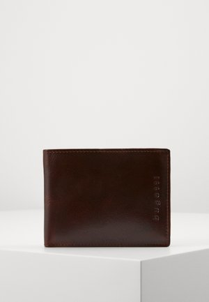 RFID COIN WALLET WITH FLAP - Lompakko - brown