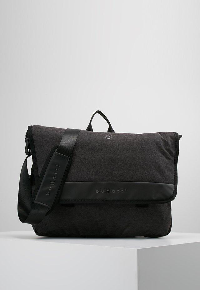 MESSENGER BAG - Axelremsväska - schwarz/grau