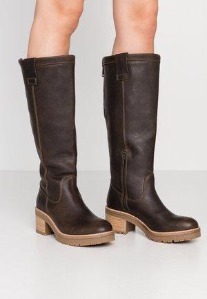 Platform boots - dark green