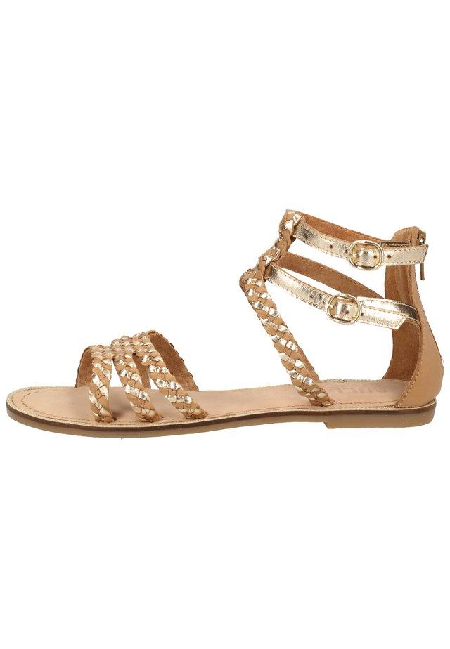 Sandały z cholewką - gold gold