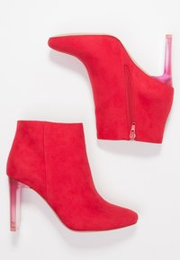 Bullboxer - High heeled ankle boots - light red - 3