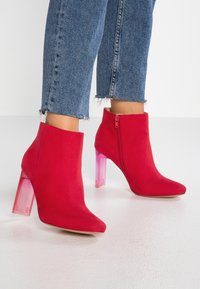Bullboxer - High heeled ankle boots - light red - 0