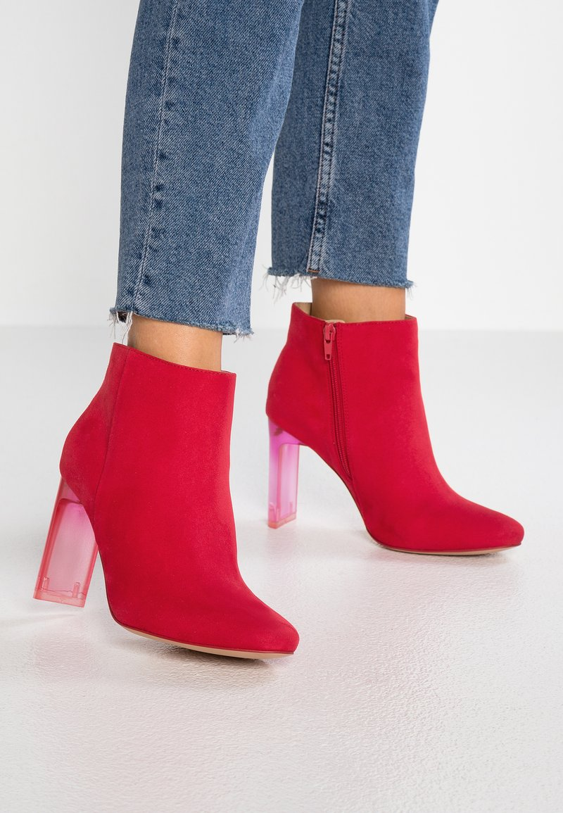 Bullboxer - High heeled ankle boots - light red