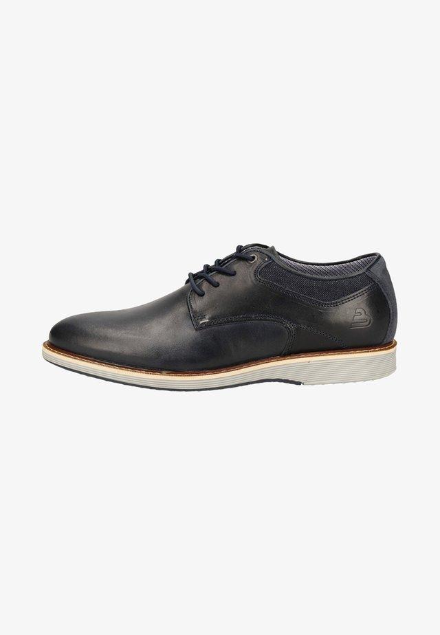 Sznurowane obuwie sportowe - navy naje