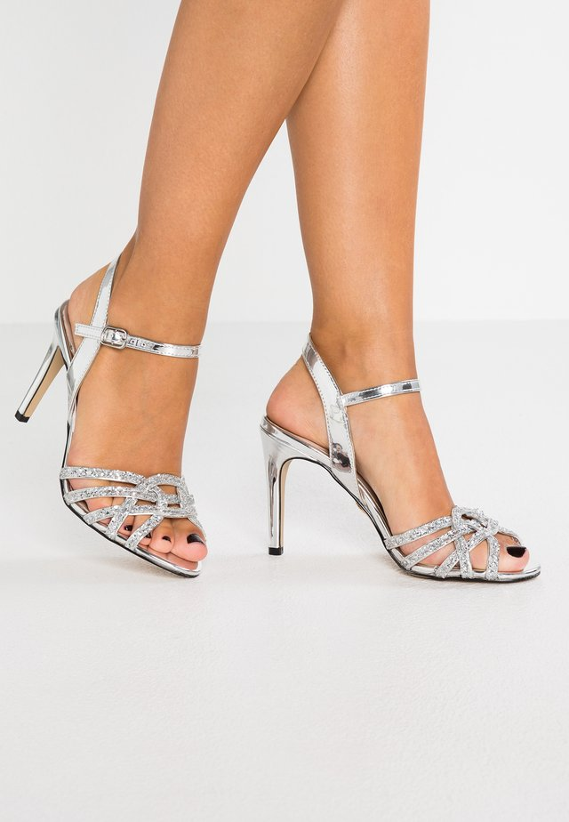 AFTERGLOW - High heeled sandals - silver
