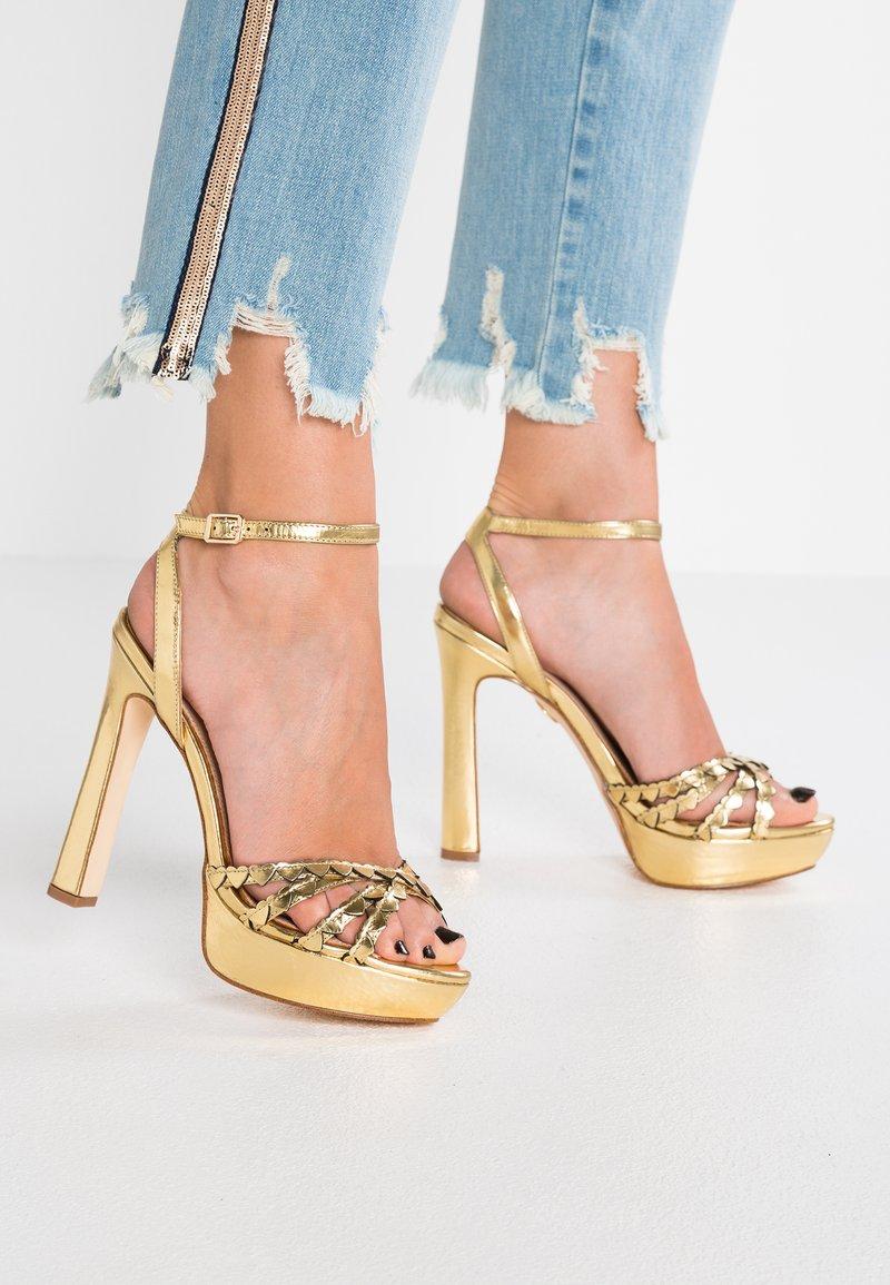 Buffalo - MARZIPAN - High heeled sandals - gold