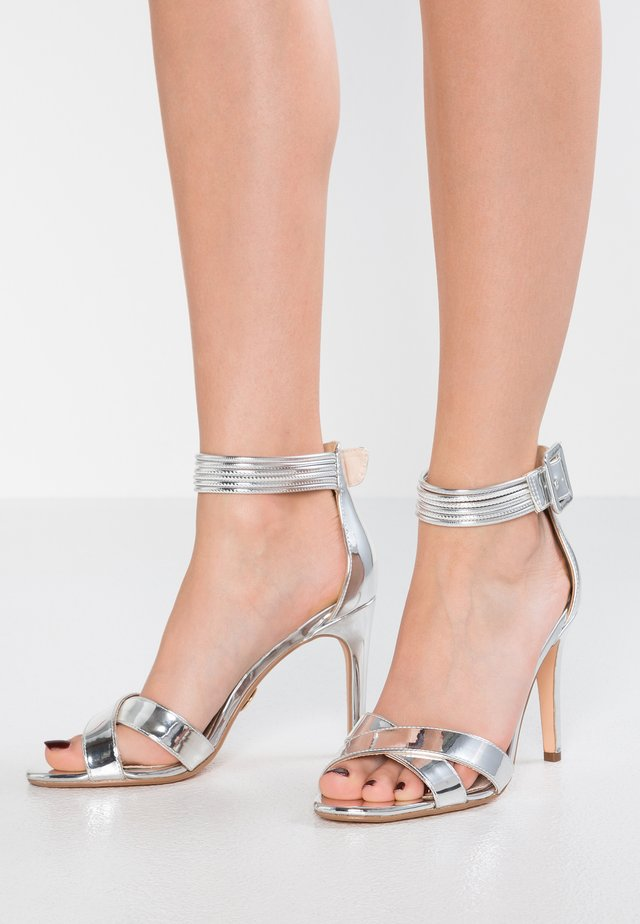 AMINA - High Heel Sandalette - silver