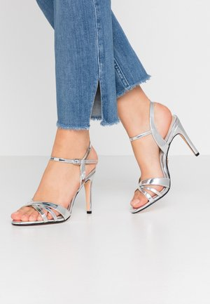 ANJA - High heeled sandals - silver