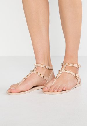 AURELIE - T-bar sandals - nude