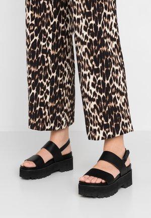 ELITA - Platform sandals - black