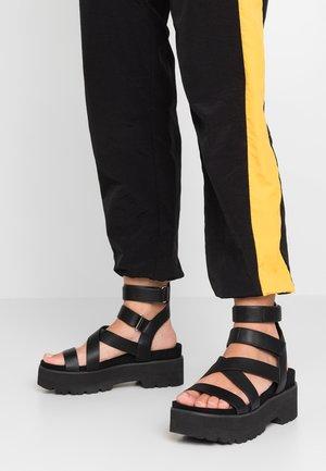 ELSIE - Sandalen met plateauzool - black
