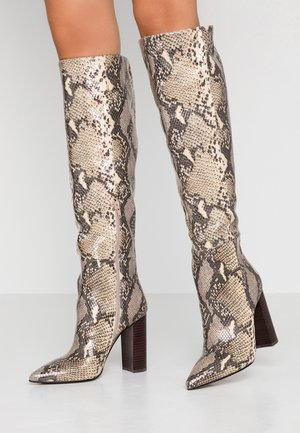 FINKA - High heeled boots - beige