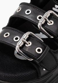 Buffalo - Platform sandals - black - 2