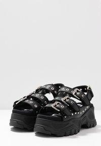 Buffalo - Platform sandals - black - 4
