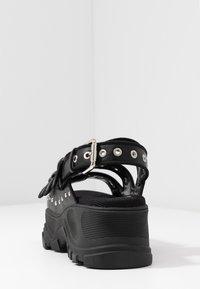Buffalo - Platform sandals - black - 5