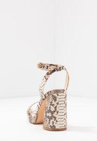 Buffalo - JOSEPHINE - Sandály na vysokém podpatku - natural/beige - 5