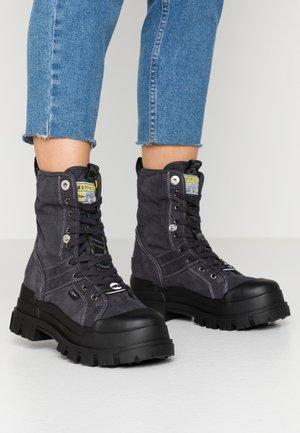 ASPHA - Kotníkové boty na platformě - black