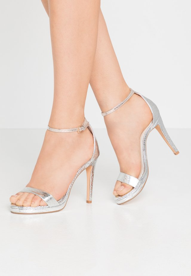 JANNA - High heeled sandals - silver