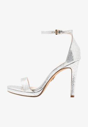 JANNA - High heeled sandals - silver