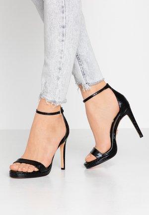 JANNA - Sandály na vysokém podpatku - black