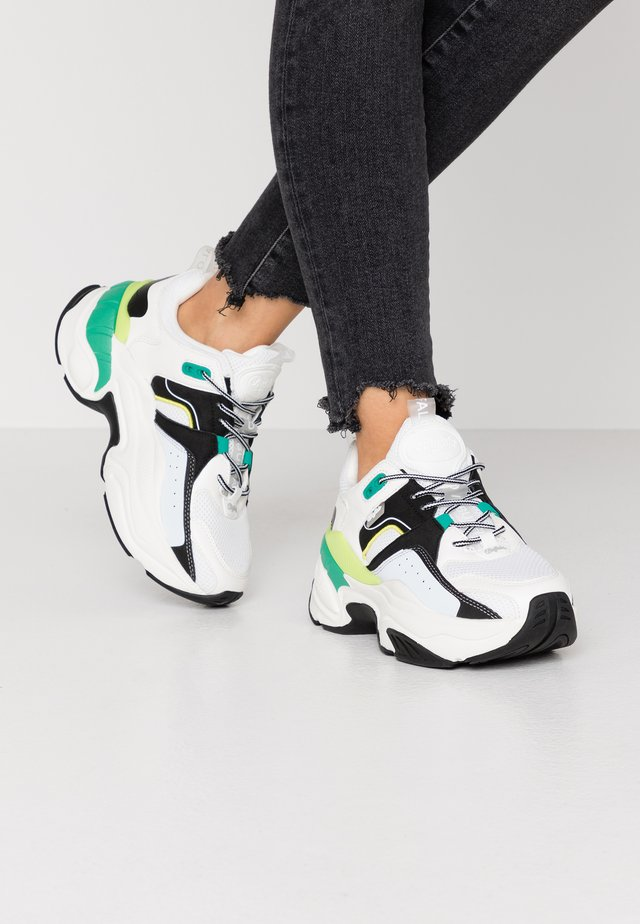 CREVIS - Sneakers - black/green/yellow