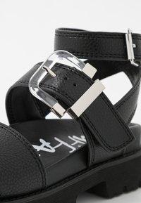Buffalo - JIMENA - Platform sandals - black - 2