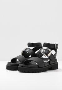 Buffalo - JIMENA - Platform sandals - black - 4