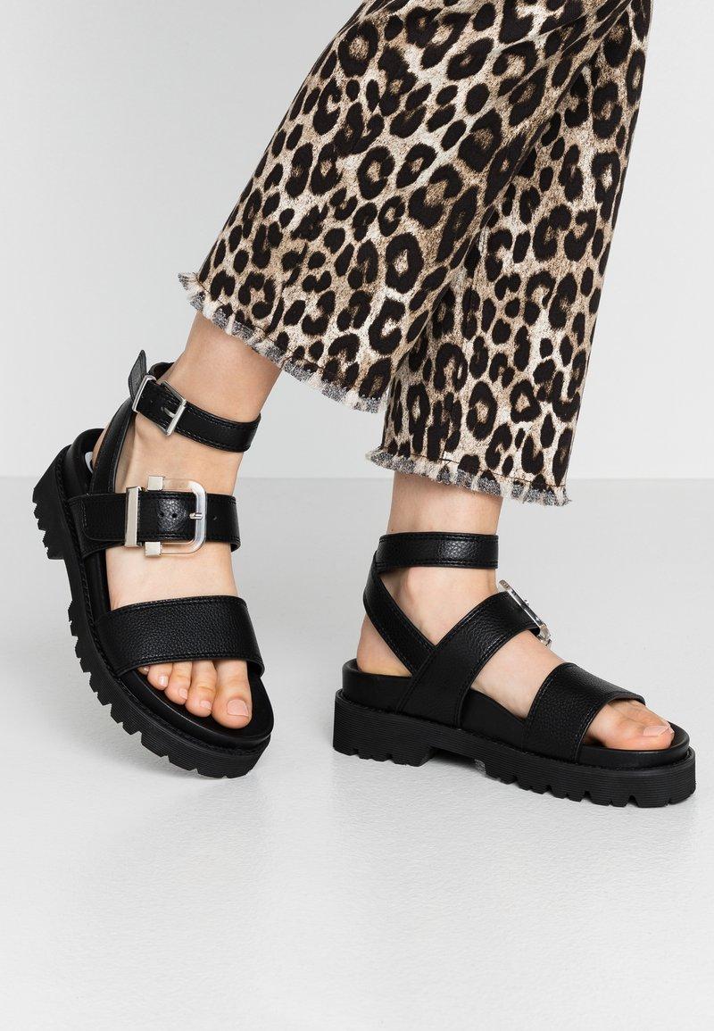 Buffalo - JIMENA - Platform sandals - black
