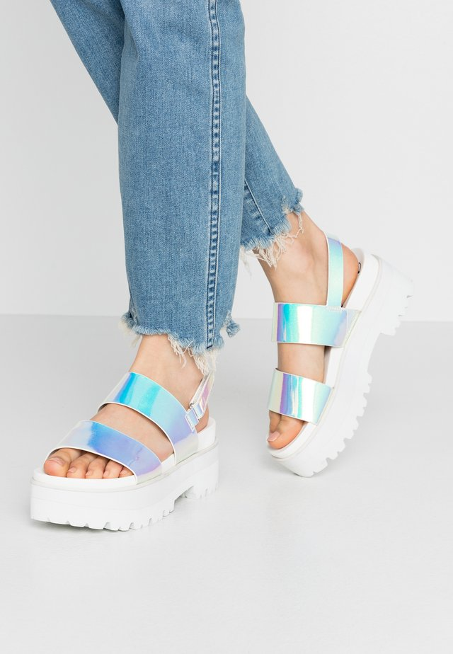 JEMMA - Platform sandals - pearl white