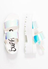 Buffalo - JEMMA - Platform sandals - pearl white - 3