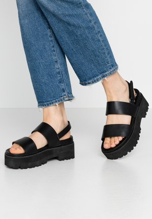 JEMMA - Platform sandals - black