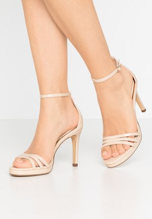 MELISSA - Sandály na vysokém podpatku - nude