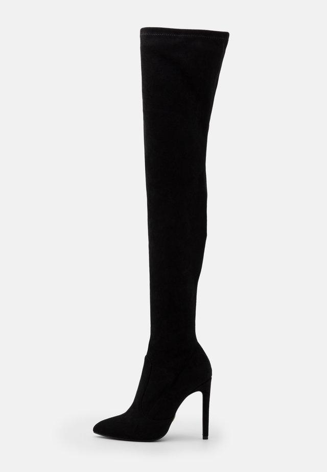 MARJORIE - Kozačky na vysokém podpatku - black