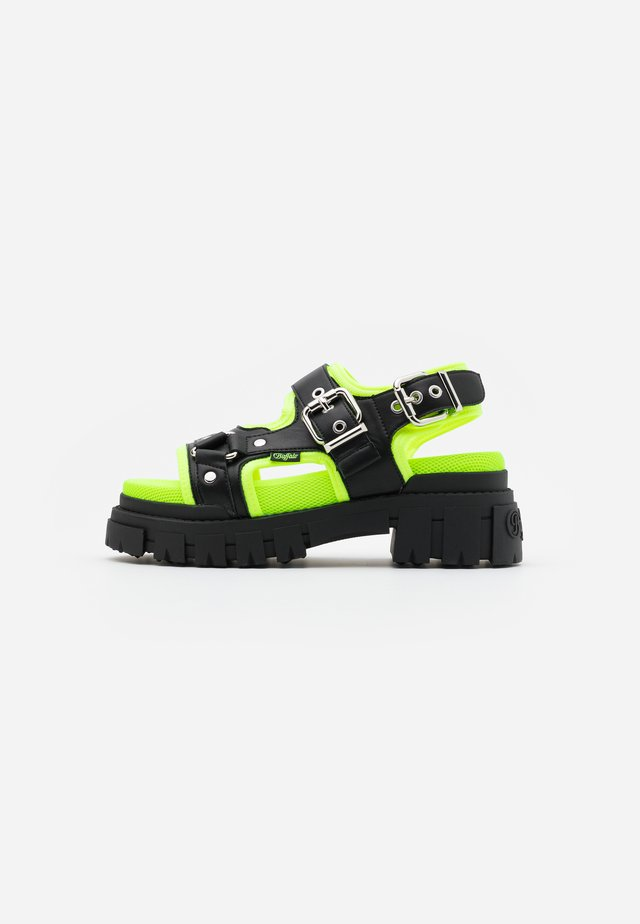 JORJA - Sandály na platformě - black/neon