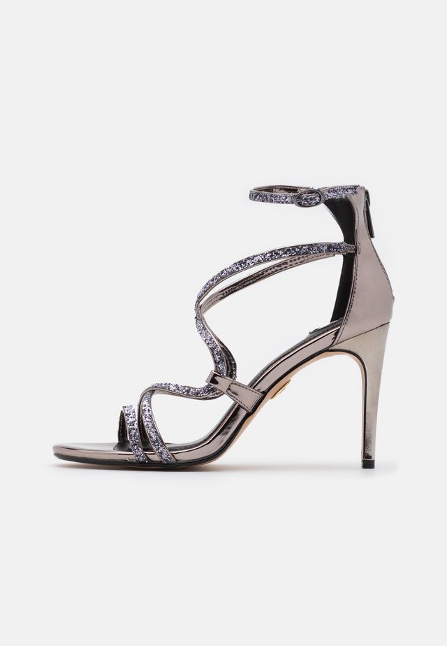 MERCY - High heeled sandals - pewter