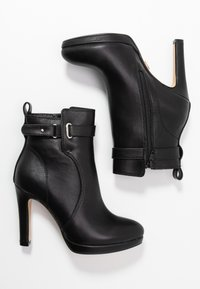 Buffalo - AUDRINA - Kotníková obuv na vysokém podpatku - black - 3