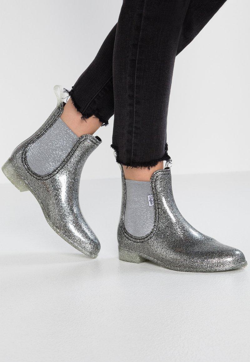 Buffalo - ALINE - Wellies - glitter silver