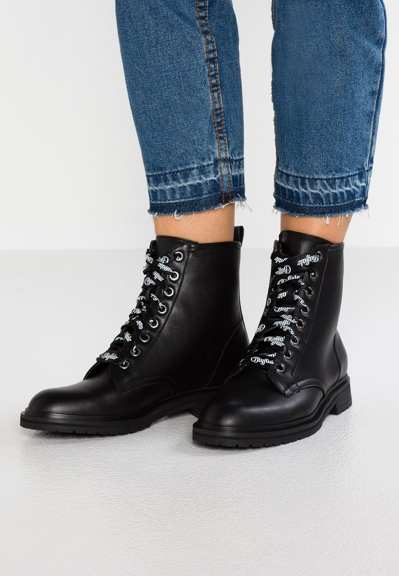 Buffalo - ALLY - Lace-up ankle boots - black